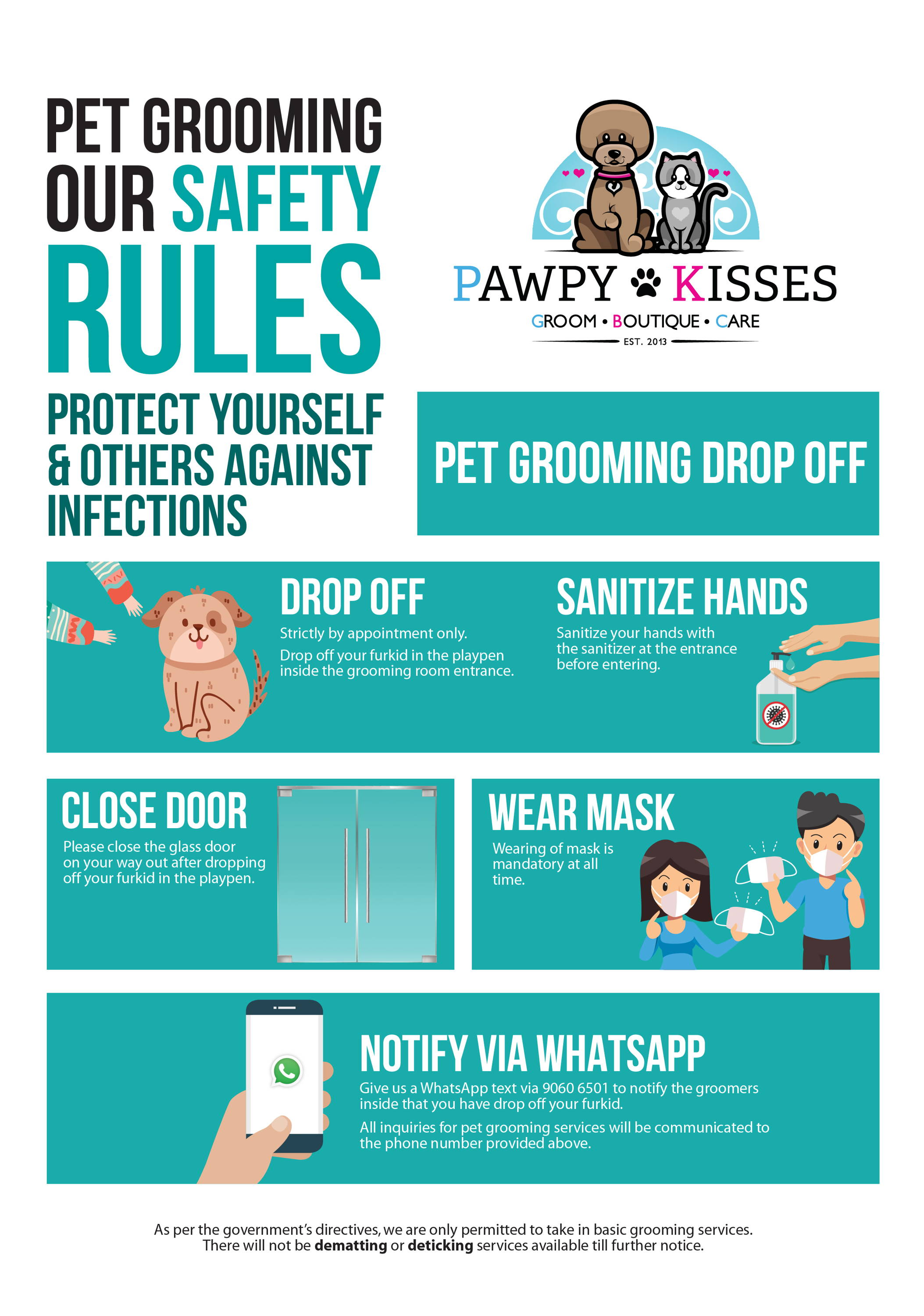 Basic Pet Grooming Services Resume in Post Circuit Breaker Phase 1