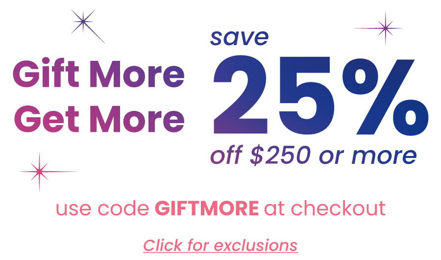save 25% off $250 or more
