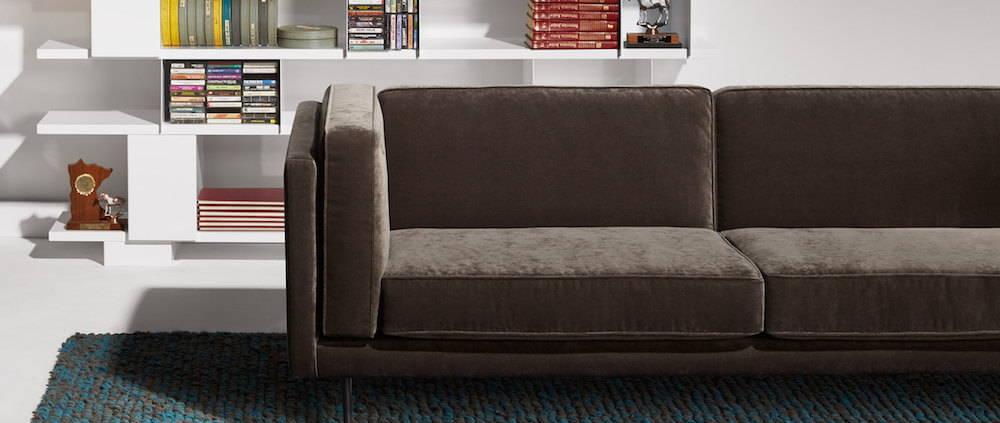 Blu Dot Bank Sofa in Velvet Mink