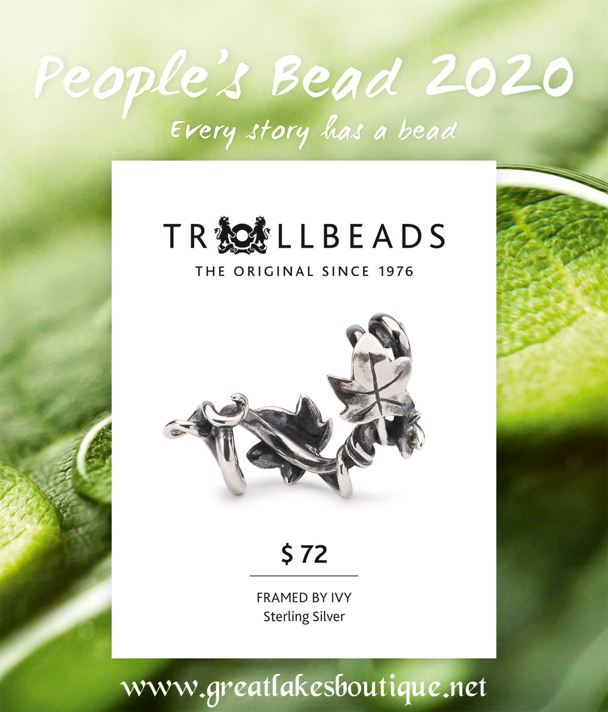 Troll Beads Christmas Cards 2020 Trollbeads People's Bead 2020 – Great Lakes Boutique