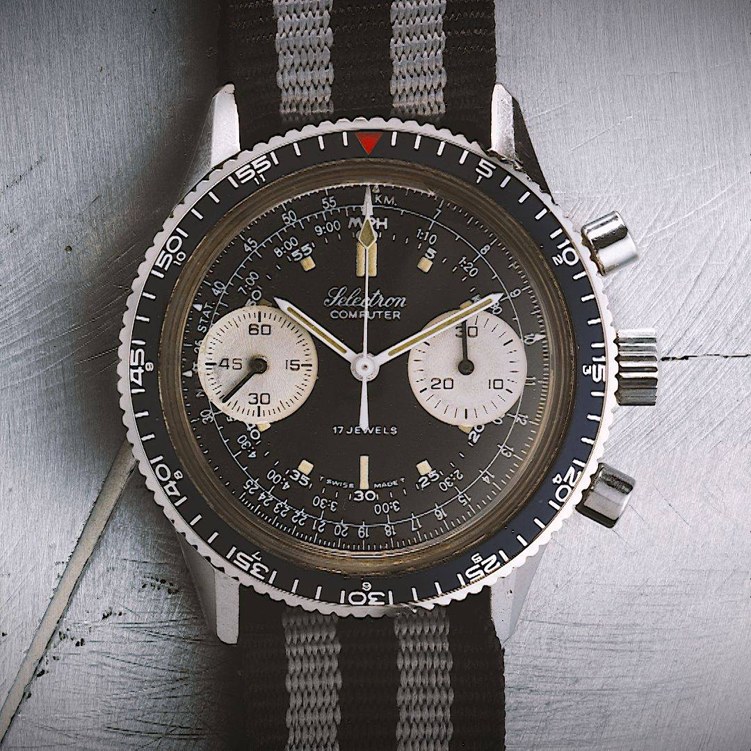 Ollech and Wajs Zurich 1956 OW vintage watch Swiss made SELECTRON V7733 OW7722