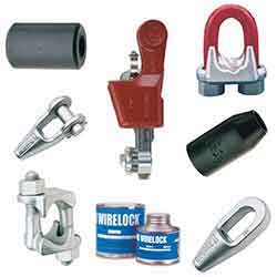 Crosby Wire Rope end Fittings and Clips