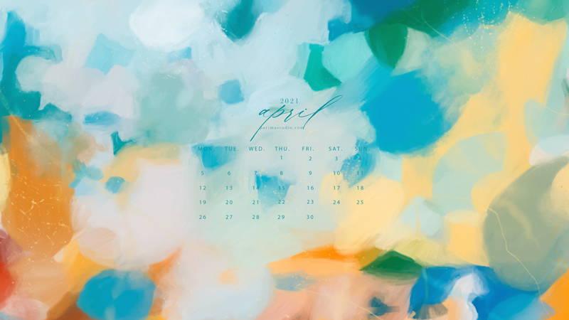 April calendar and wallpaper download by Parima Studio
