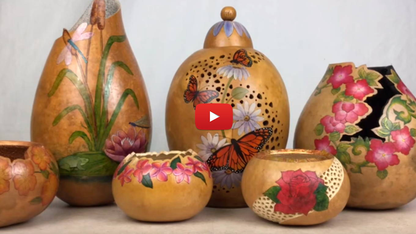 Watch Video 5- Creating Fancy Cuts and Filigree on Gourds