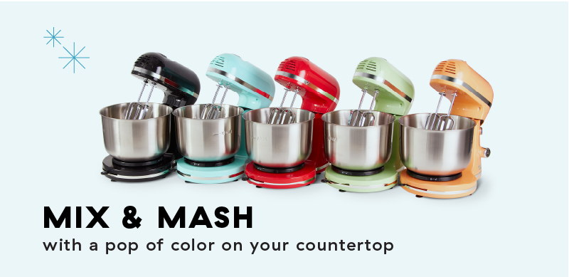 Mix & Mash, with a pop of color on your countertop