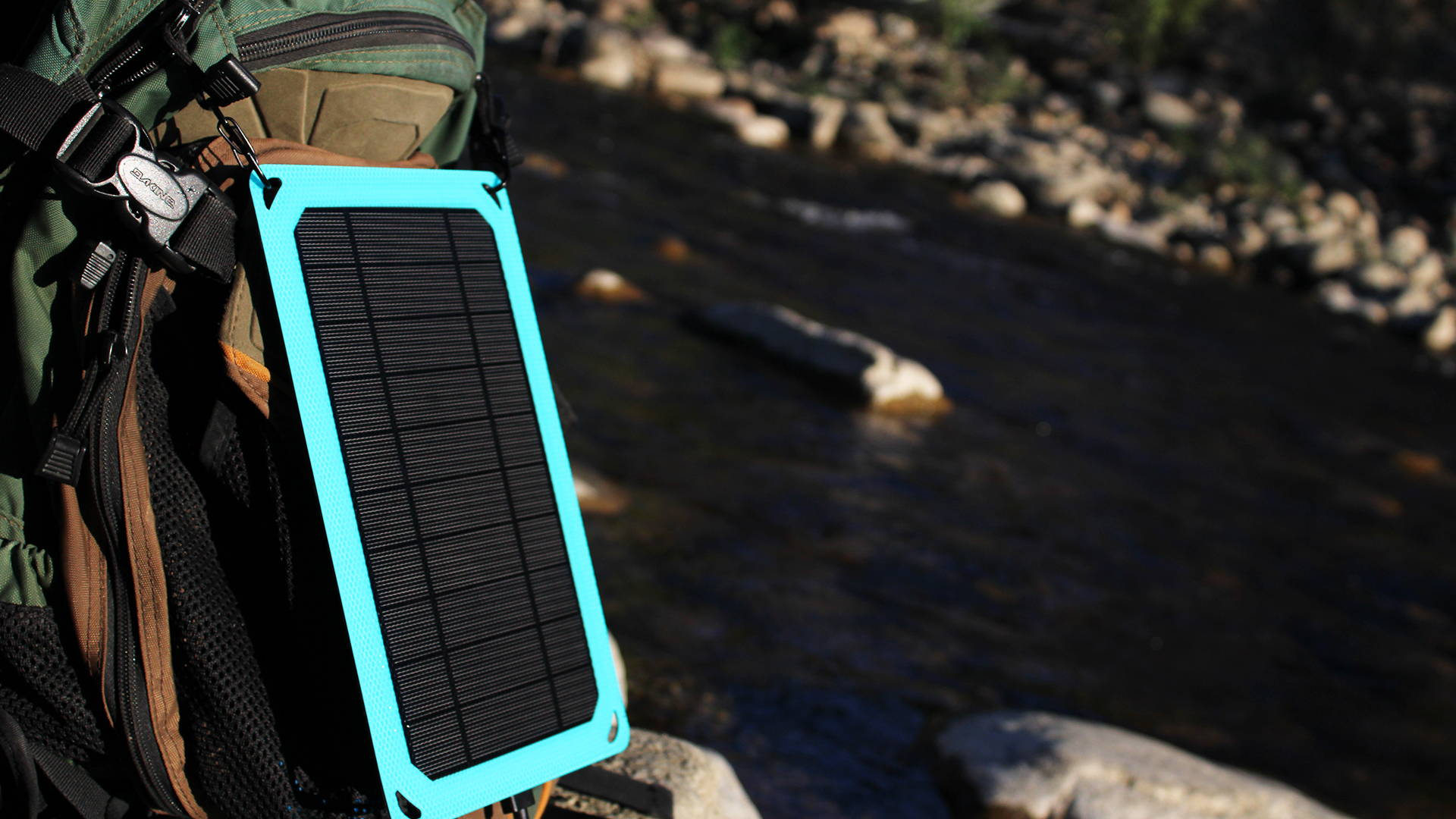 Voltzy Solar charging in the sunlight.