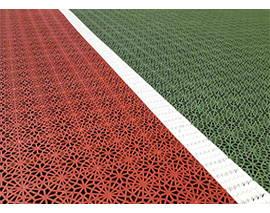 dalles de sol Tennis vert et rouge