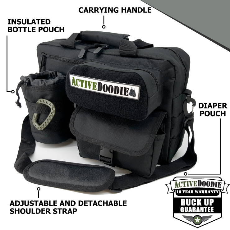 Active Doodie Diaper Bags for Dad with a Tactical Style