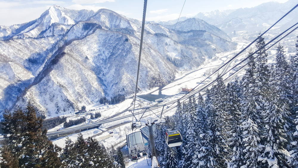 Gala Yuzawa ski resort in Niigata, Japan