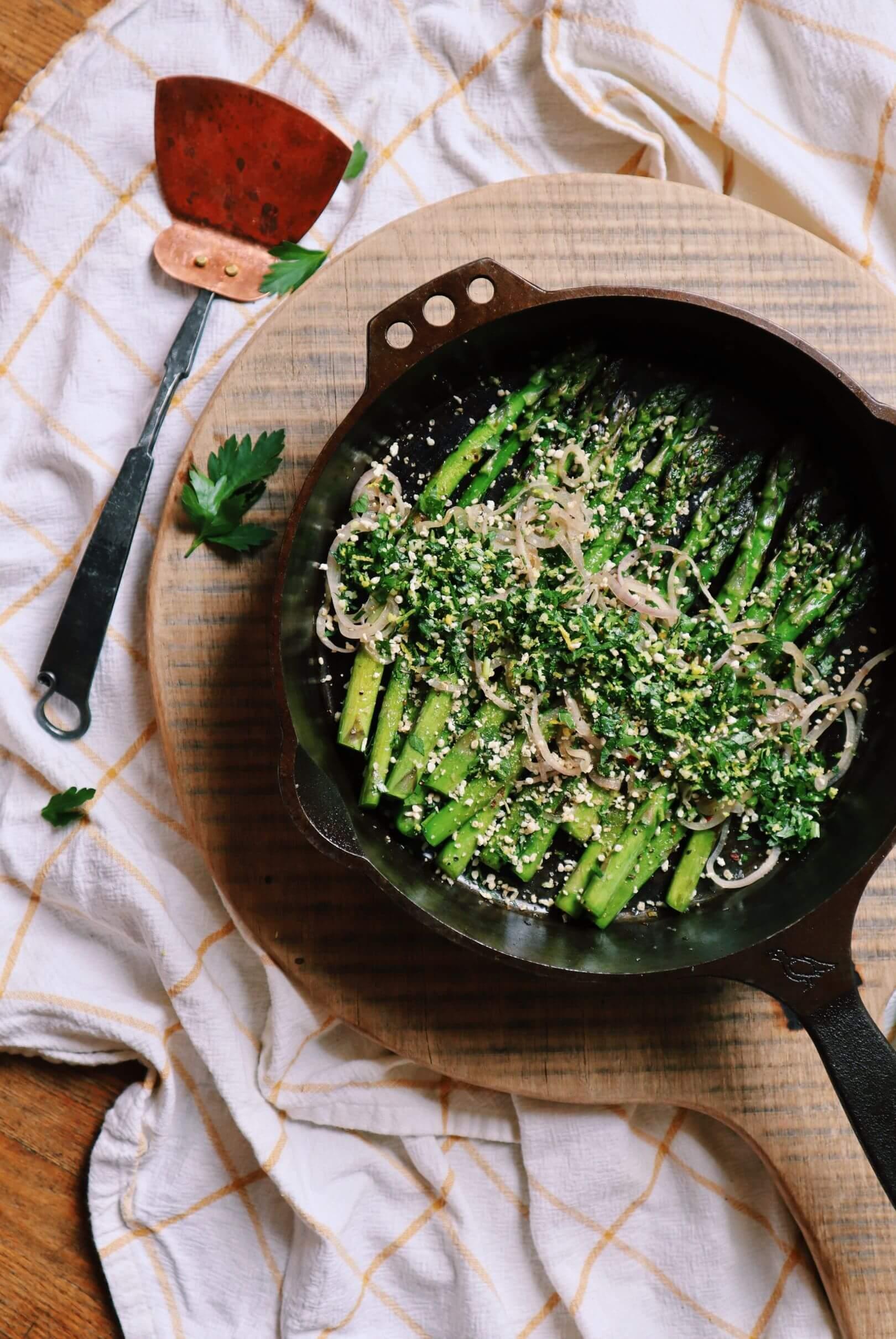 charred asparagus recipe