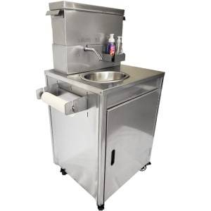Mobile Handwash Station - Heavy Duty Stainless Steel Sink on Wheels - Made in Canada