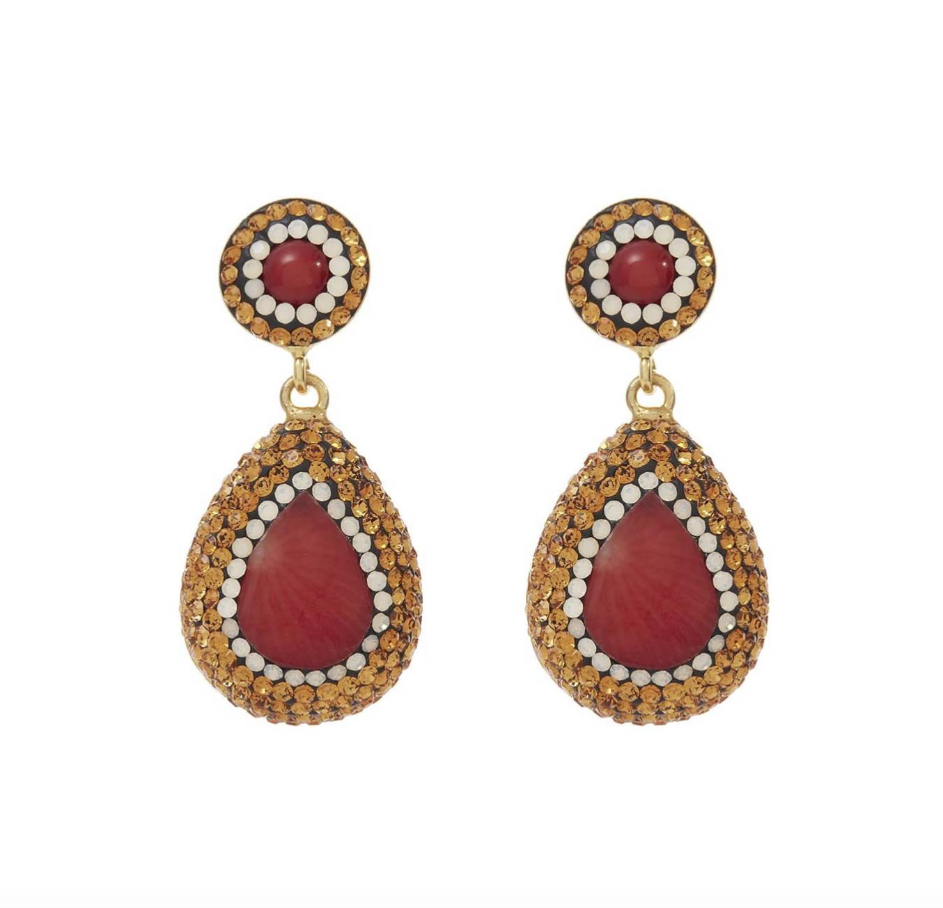 soru coral earrings
