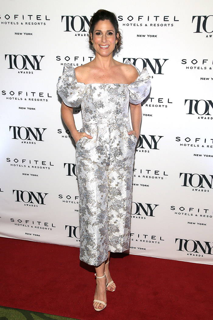 Stephanie J Block looked fantastic in Badgley Mischka spring 2019 at the Tony Honors Cocktail Party Presenting The 2019 Tony Honors For Excellence In The Theatre And Honoring The 2019 Special Award Recipients on June 03, 2019 in New York City.