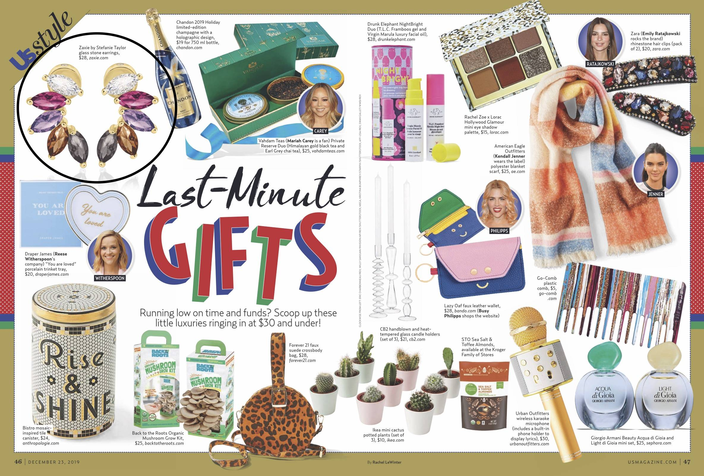 Rich Hues Find Your Spark Studs in Us Weekly