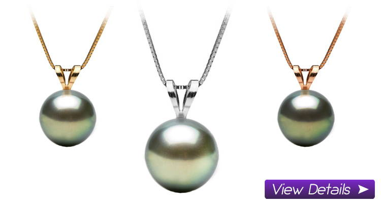 Black Pearl Pendants Solitaires