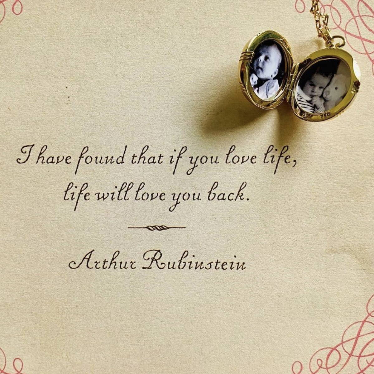 locket and love quote
