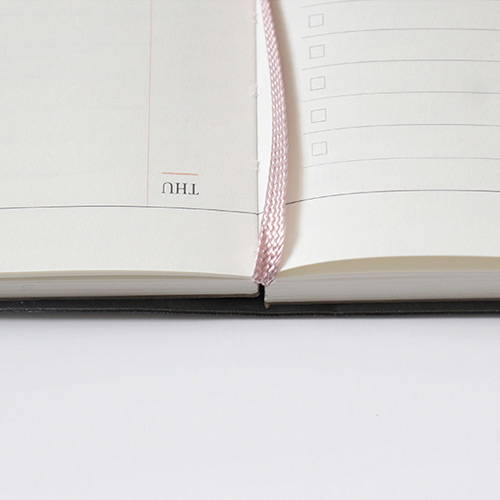 Opens flat - Official dateless weekly planner notebook