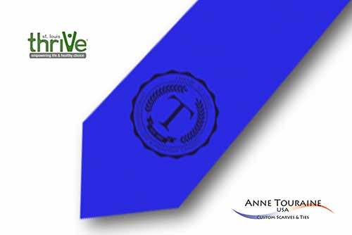 Solid-colored-custom-ties-bow-ties-with-a-seal-design-style-blue