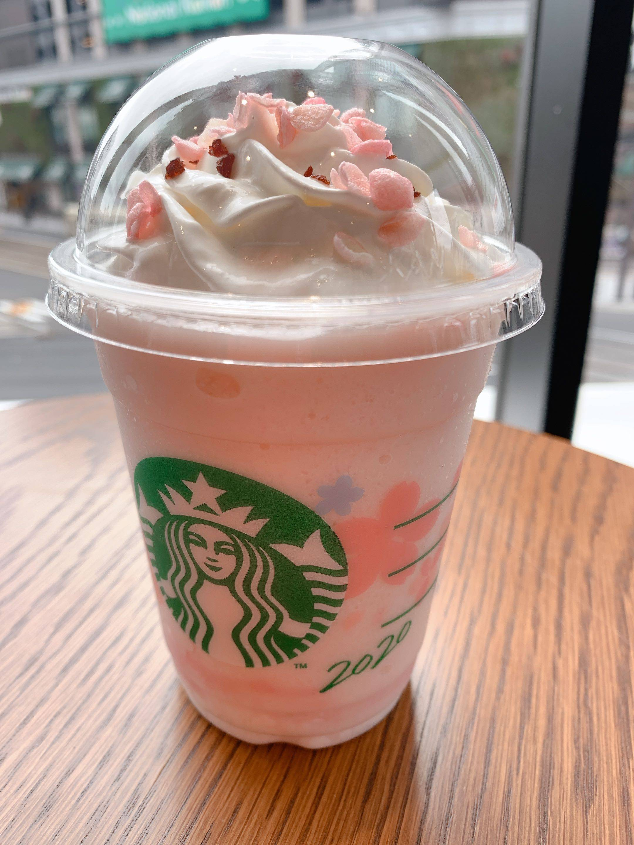 sakura milk pudding frappuccino starbucks japan