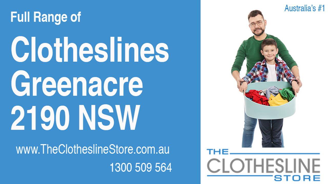 Clotheslines Greenacre 2190 NSW
