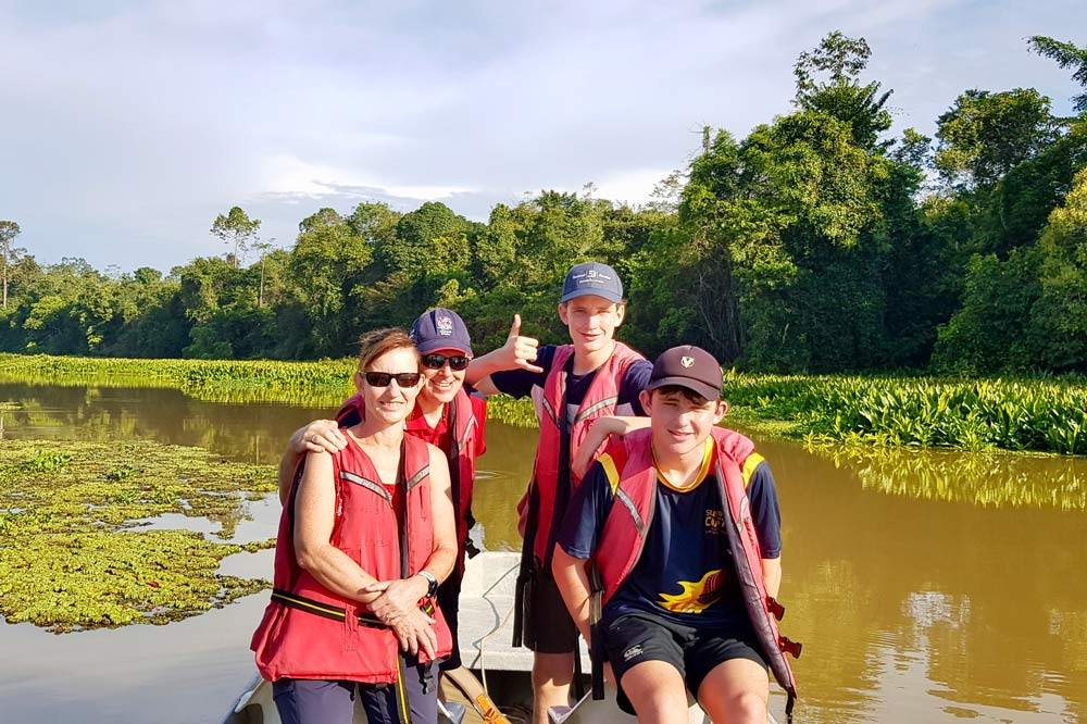 Travelbay Borneo Tours - Customer Review - Gunson family - Pitas Lake, Kinabatangan