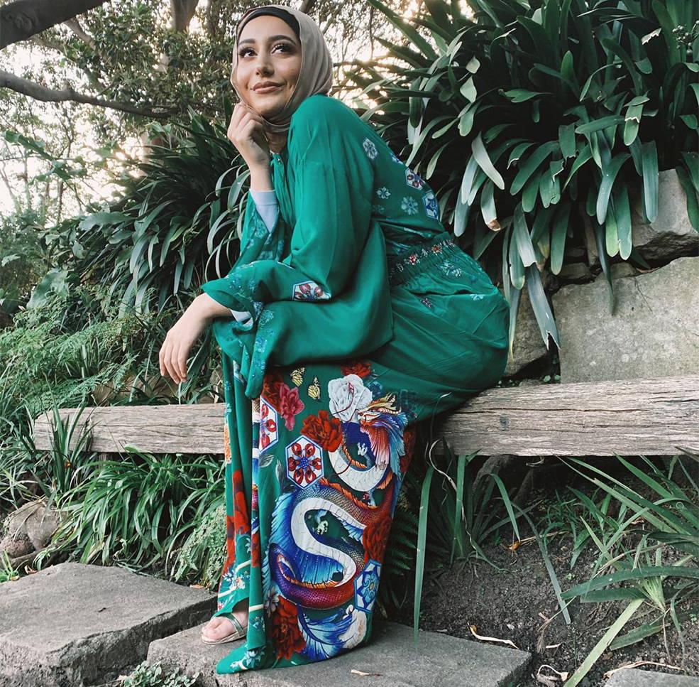 Woman Wearing Emeralds Orbit Pants and Shirt