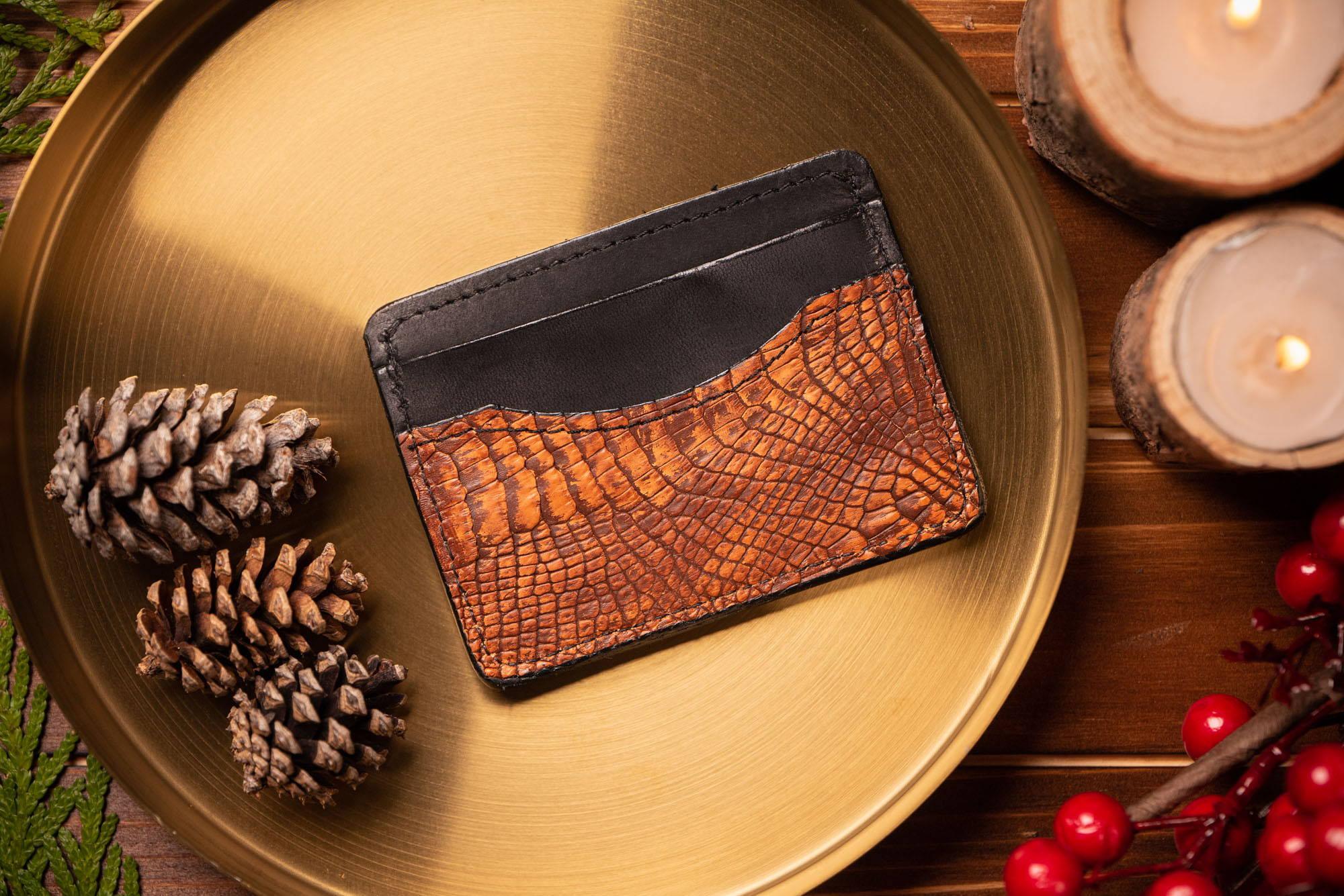 alligator card holder wallet