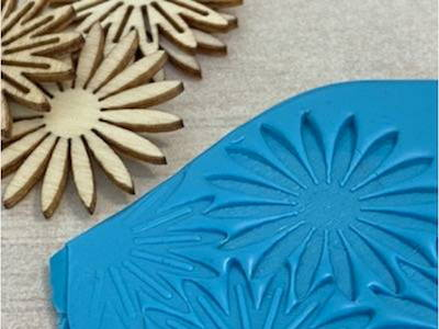 wooden embellishments for decorating polymer clay