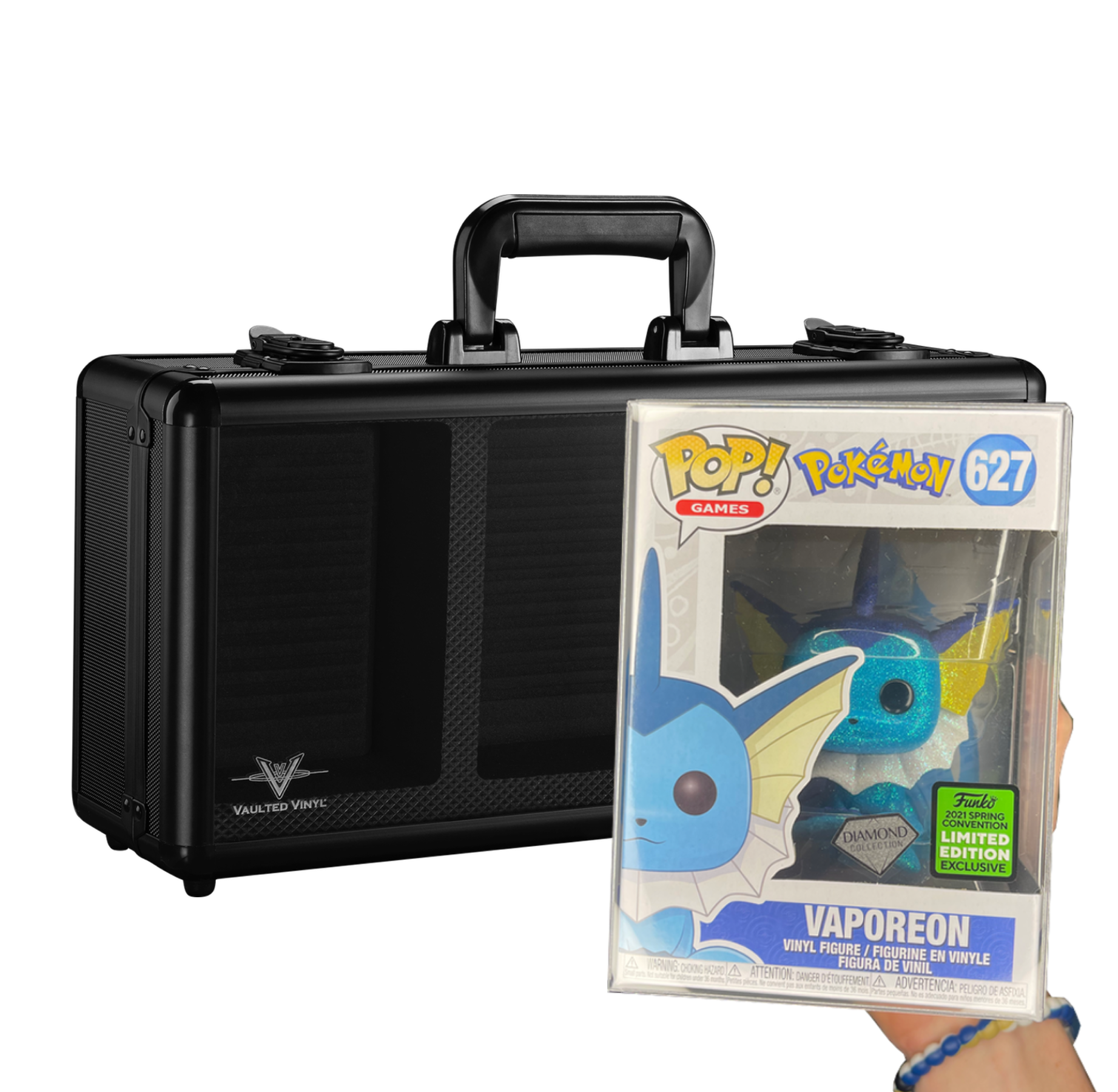 2021 Spring Convention Limited Edition Exclusive Vaporeon (Diamond Collection) Funko Pop!