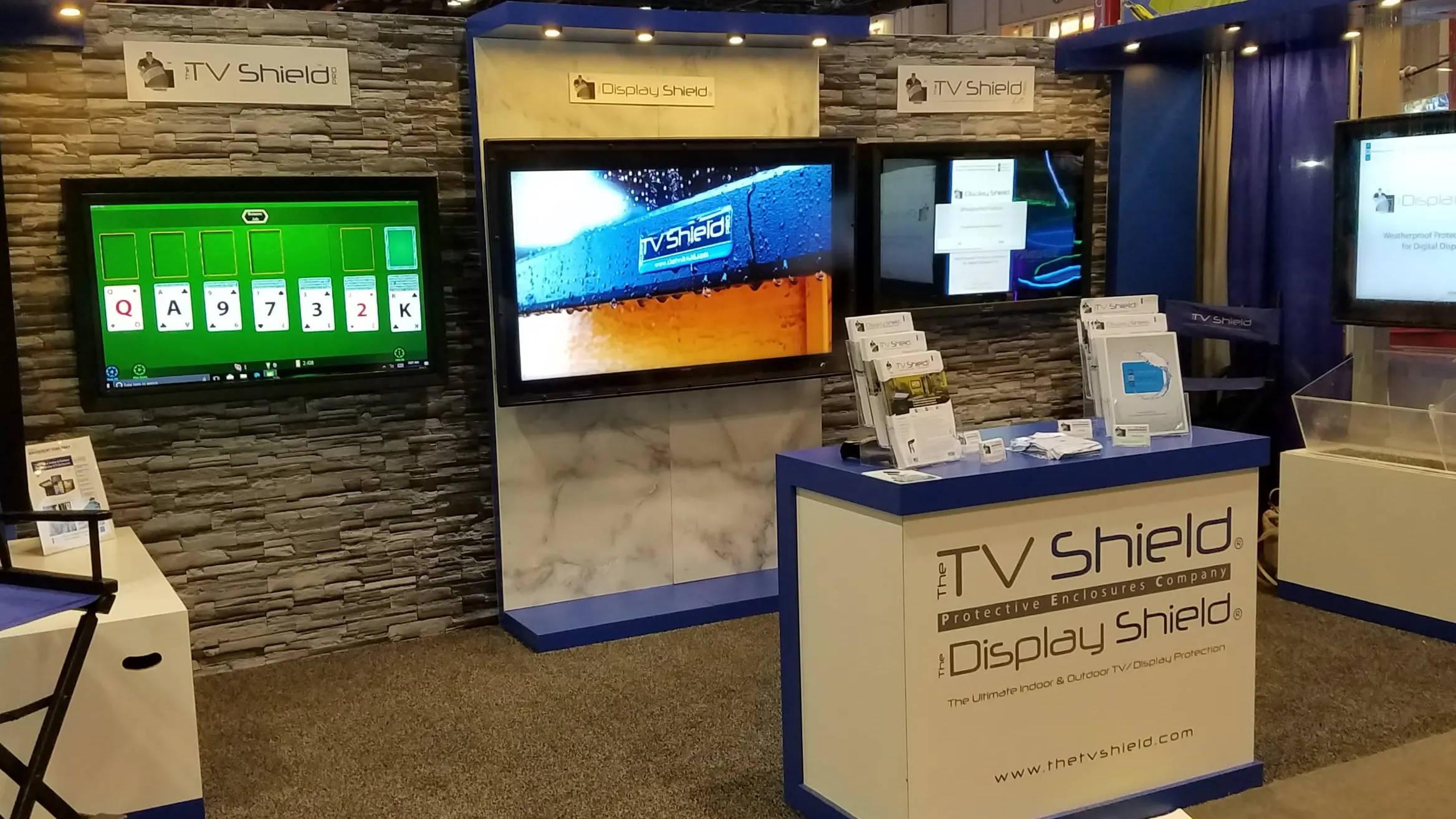 The TV Shield, The Display Shield, The TV Shield PRO outdoor TV enclosure solutions