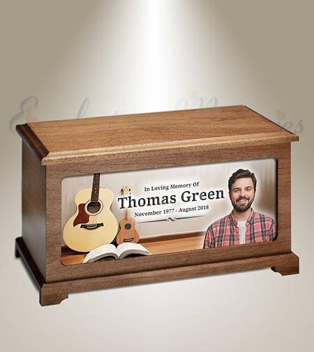 Musician Picture Burial Urn For Ashes