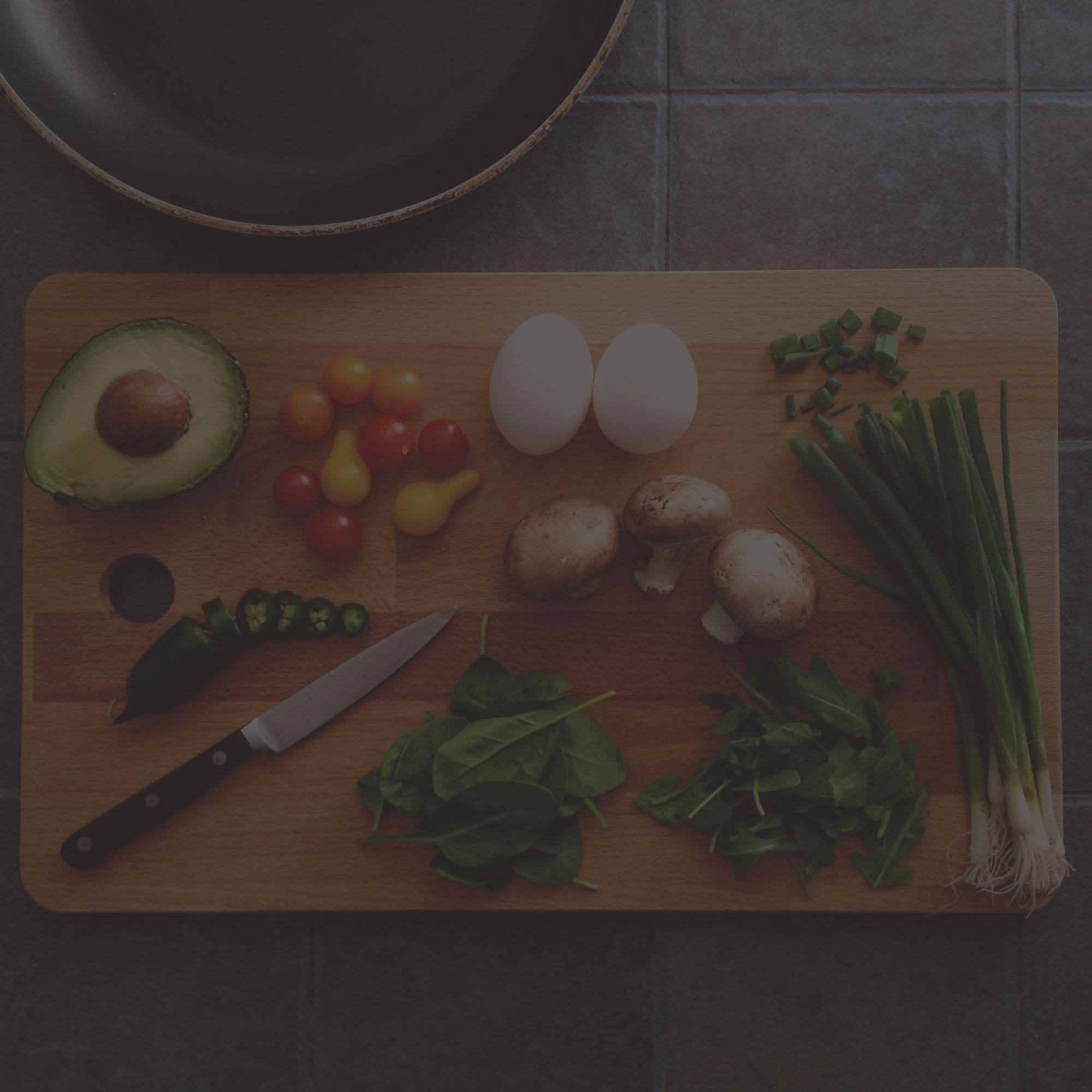 How to Sleep Better Guides. healthy food on cutting board