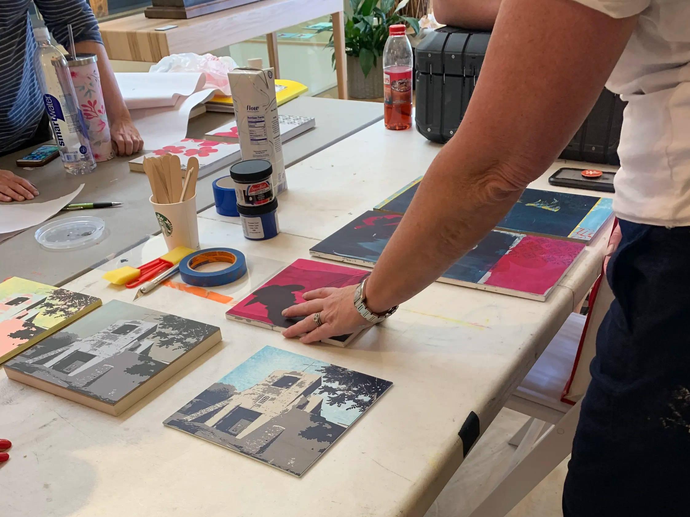 Maura Allen. Print Making. Artist Workshops. Santa Fe ARtist Workshops. Durango Artist Workshops.