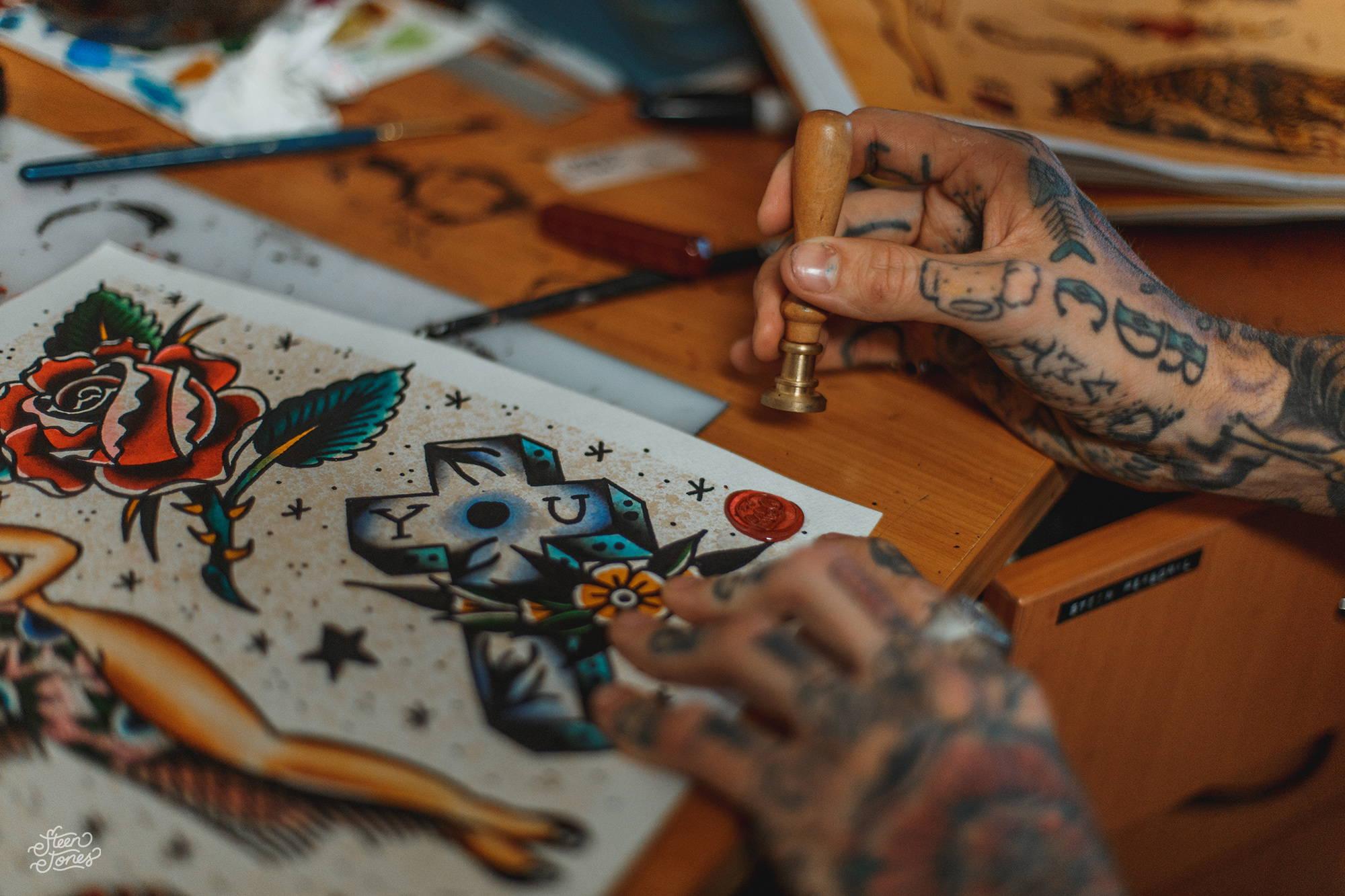 Sailor Jerry Wallpaper Steen Jones