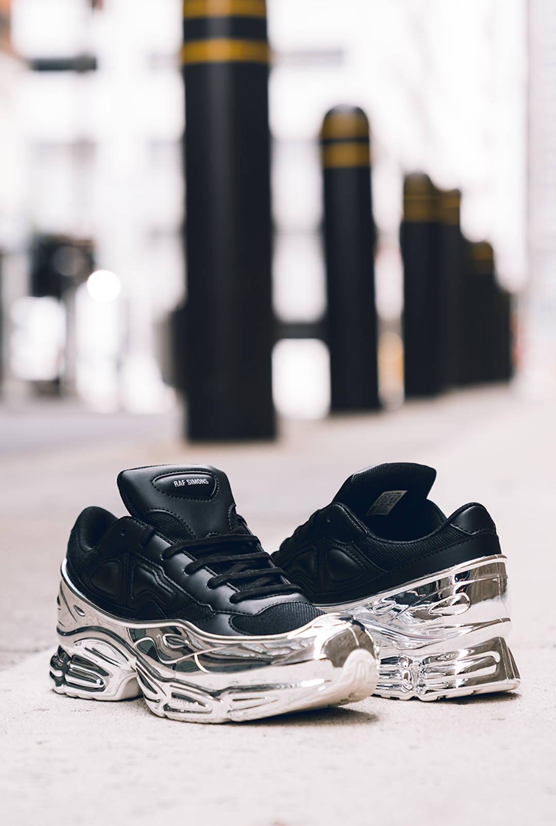 Black adidas by Raf Simons Ozweego sneakers