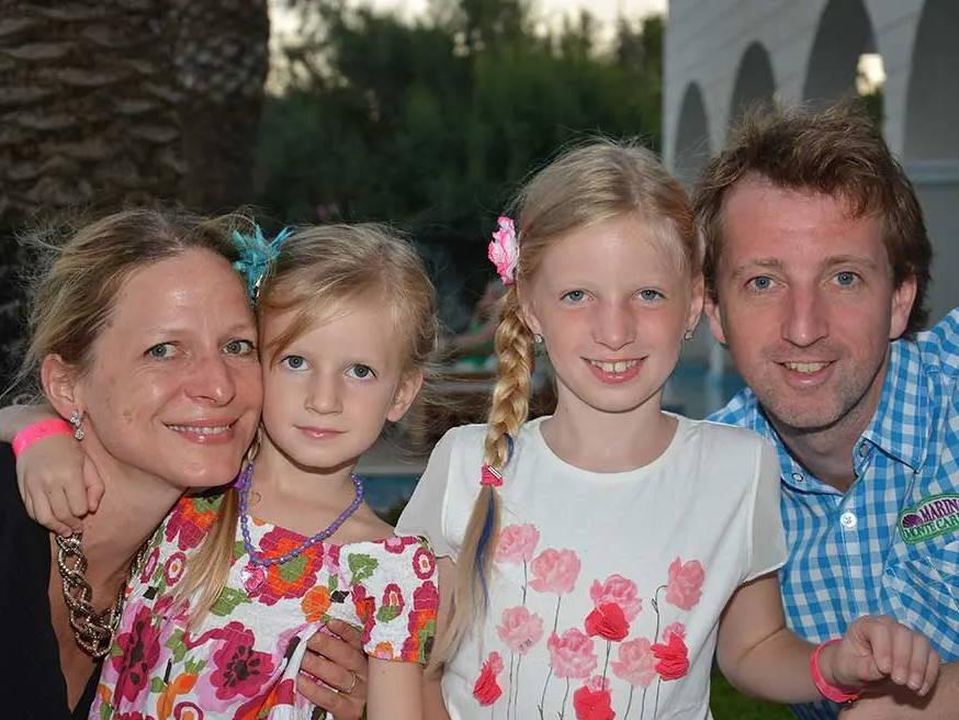 Gründerin DI Michaela Schicho mit Ihrer Familie
