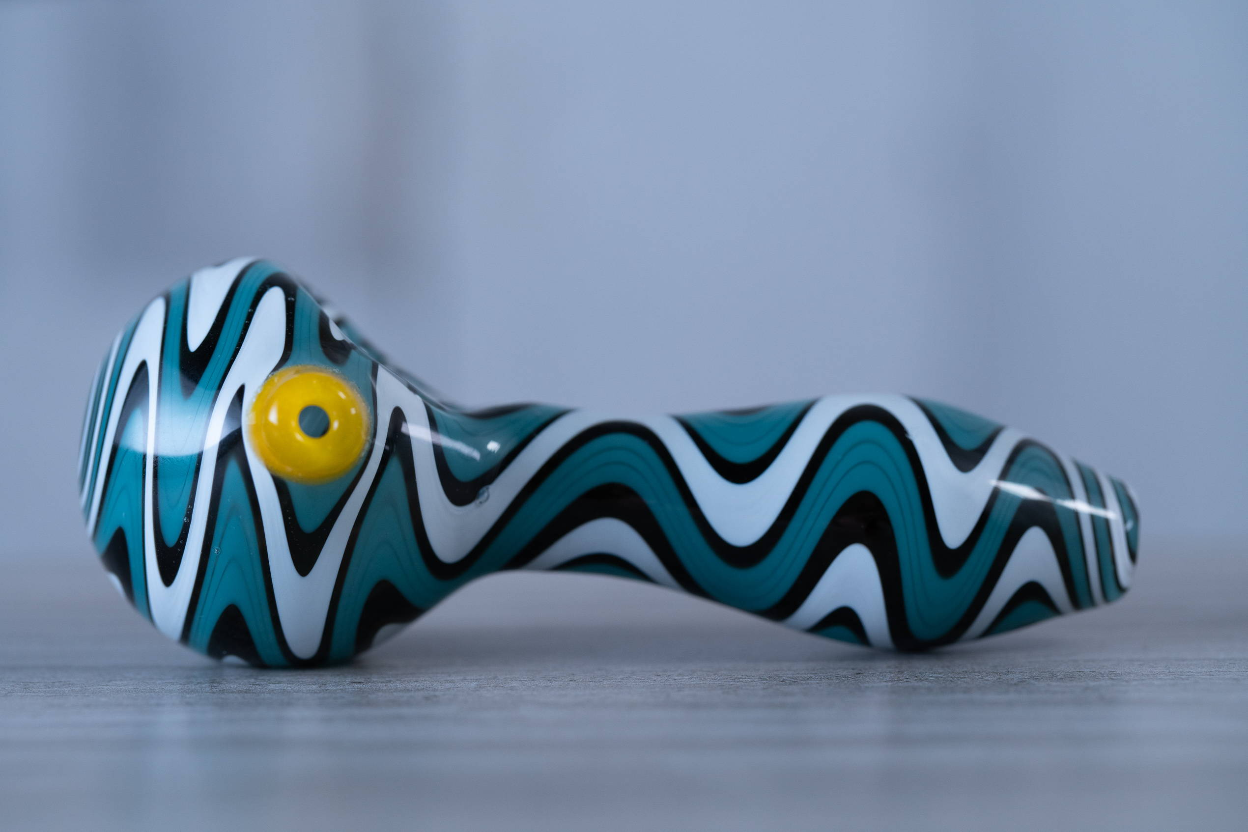 Boo Glass ZigZag WigWag Spoon Pipe - DopeBoo.com