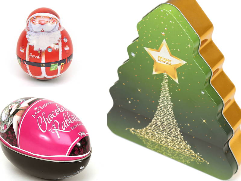 Christmas Themed Metal Packaging