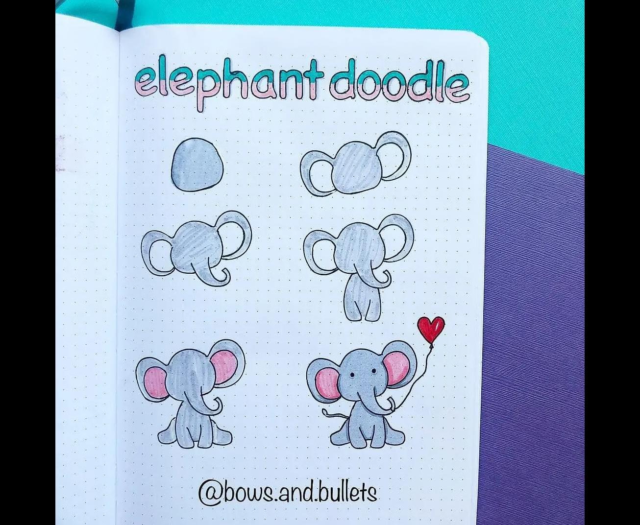Hình vẽ nguệch ngoạc về con voi