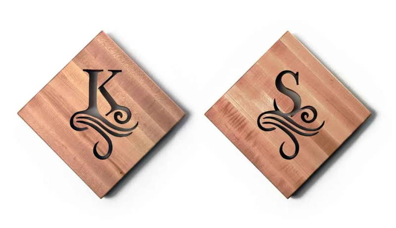 Single Initial Personalized Cutting Board