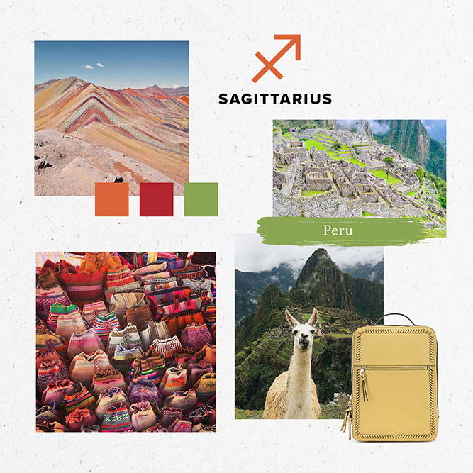 Horoscope, 2020, Travel, sagittarius, peru, backpack, pear