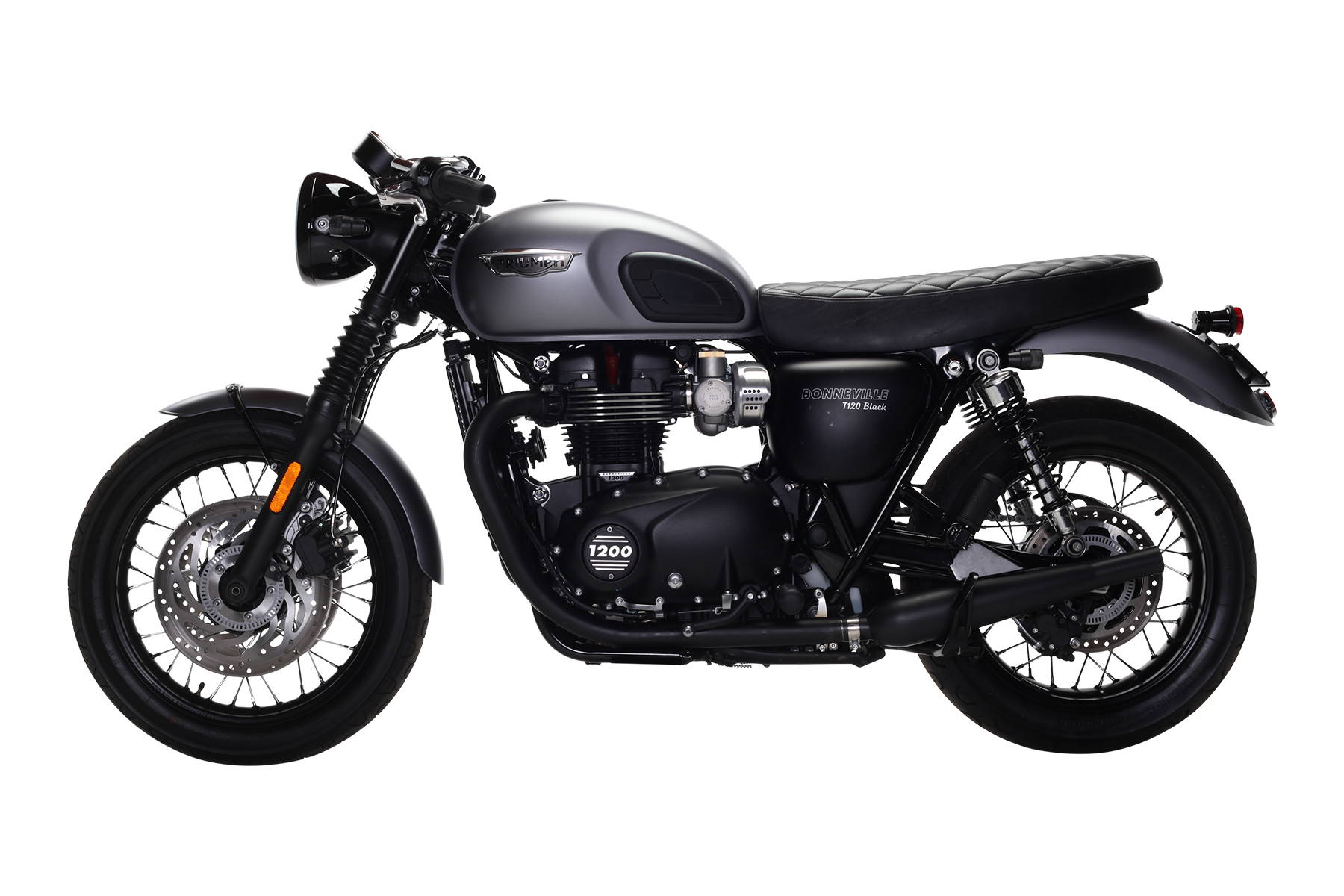 Triumph Bonneville T120 Black Matte Grey British Customs