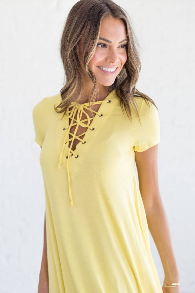 yellow spring dress from bella ella boutique