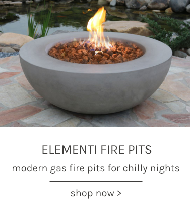 Elementi Fire Pits modern gas fire pits for chilly nights