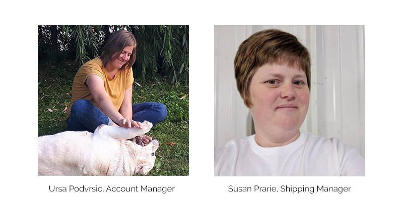 Ursa Podvrsic and Susan Prarie