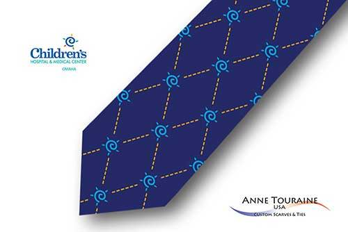 Geometric-patterned-custom-logo-ties-bow-ties-design-style-navy-blue