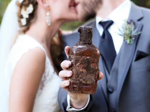 Burying the bourbon on wedding day