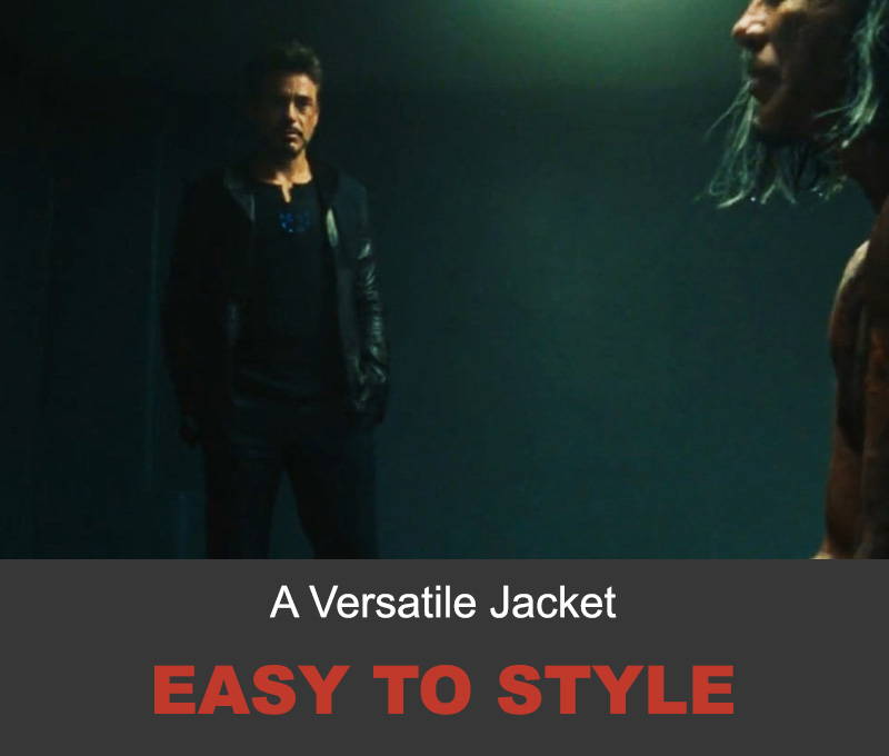 Tony Stark leather jacket