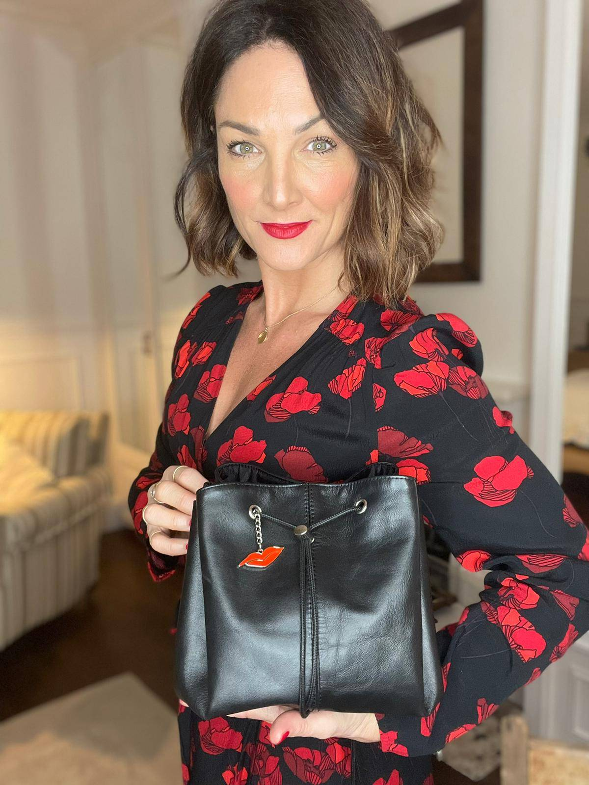 Luxury Leather Lay Flat Makeup Bag