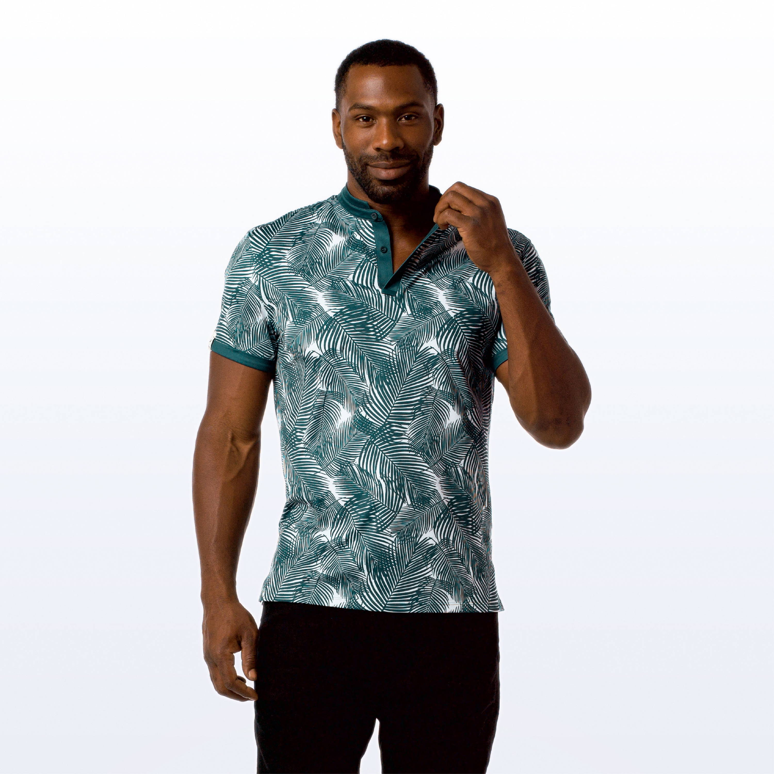 MANTRA The Palm Polo - sustainable mens polo made in the USA from repurposed materials